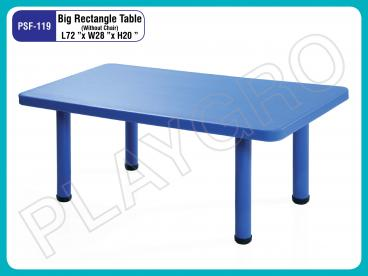 Big Rectangle Table:- Blue