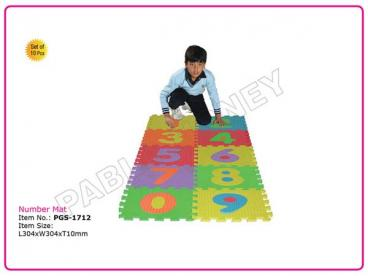 Number Mat (Set of 10 Pcs)
