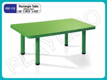 Play School Rectangle Table: Green